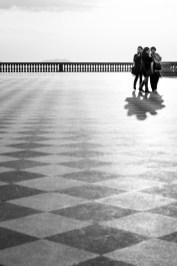 "Sunday Walk With Her Aunties. Terrazza Mascagni, Livorno, March 2016. Nikon D810, 85 mm (85 mm ƒ/1.4) 1/1250"" ƒ/7.1 ISO 400"