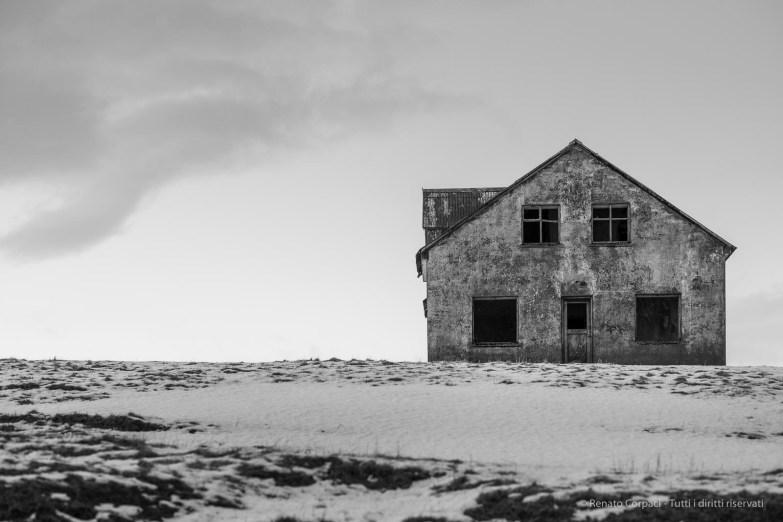 """An abandoned farm near Nypugardar (Höfn), Iceland. February 2016. Nikon D810, 85 mm (85.0 ƒ/1.4) 1/100"""" ƒ/3.2 ISO 400"""