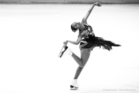 Palasesto, solo show during a synchronized skating tournament. Sesto S. Giovanni, Februry 2015. Nikon D810 340 mm (80-400 mm ƒ/4.5-5.6) 1/640 ƒ/6.3 ISO 6400