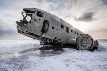"November 24, 1973. United States Navy Douglas Super DC-3 airplane, forced to an emergency landing on Sólheimasandur's beach. Iceland, Febbruary 2016. Nikon D810, 20 mm (20.0 mm ƒ/1.8) 1/125"" ƒ/7.1 ISO 64"
