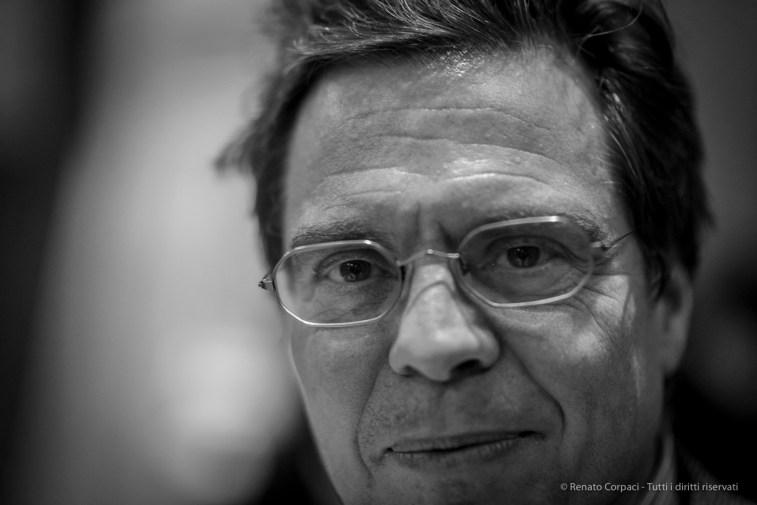 """Alessandro Morandotti, art critic, author. Milano, November 2017. Nikon D810, 85 mm (85.0 mm ƒ/1.4) 1/125"""" ƒ/1.4 ISO 1600"""