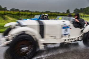 "Thomas Kern and Timon Schapals (D) on a 1930 MERCEDES-BENZ 710 SSKL taking on Antonio D'Antinone and Sabrina Baroli (I) on a 1927 BUGATTI T40. Nikon D810, 24 mm (24.0mm ƒ/1.4) ) 1/125"" ƒ/3.5 ISO 64"
