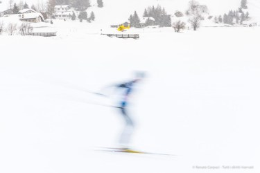 """A skier at the start of the Engadin Skimarathon 2018. Maloja, Switzerland. Nikon D810 75 mm (24-120 mm ƒ/4) 1/20"""" ƒ/8 ISO 64"""