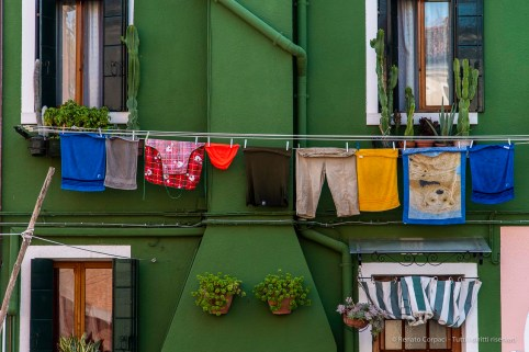 "Red Underware Burano, Venice Laguna. September 2018. Nikon D810, 120 mm (24-120 mm ƒ/4) 1/200"" ƒ/4 ISO 140"
