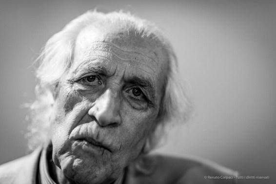 "Pino Pinelli, artist. Milano, July 2018. Nikon D810, 85 mm (85 mm ƒ/1.4) 1/125"" ƒ/1.4 ISO 250"