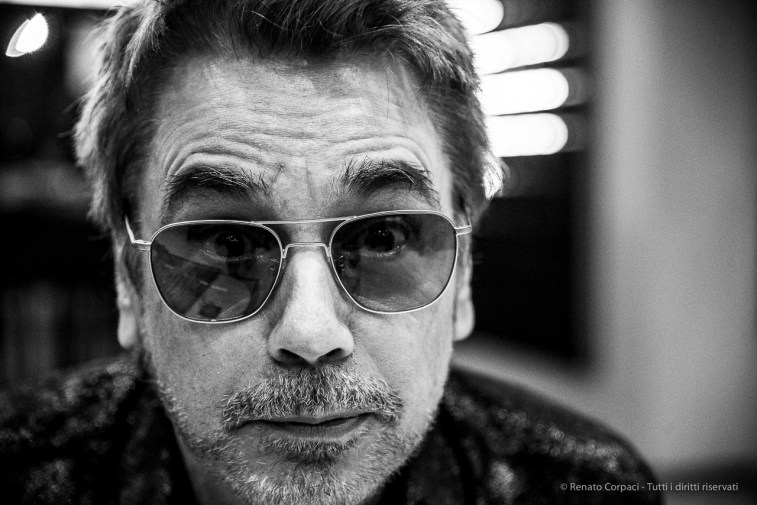 "Jean-Michel Jarre (Lyon, 1948), composer, performer and record producer. Milano, November 2018. Nikon D810, 85 mm (24-120 mm ƒ/4) 1/125"" ƒ/4 ISO 1800"