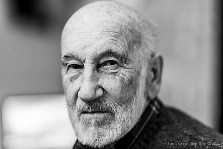 Gianni Berengo Gardin, photographer. Milano, April 2019. D810, 85 mm (85 mm ƒ/1.4) 1/125 ƒ/1.4 ISO 64