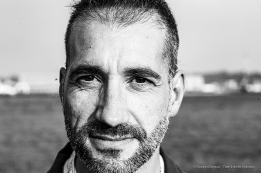 """Mayor Gaetano Farina, commander, Frecce Tricolori Acrobatic Patrol. Linate, October 2019. Nikon D810, 85mm (85,0 mm ƒ/1.4) 1/125"""" ƒ/8 ISO 140"""
