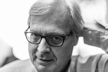 Vittorio Sgarbi, art critic, art historian, politician, cultural commentator and television personality. Asti, September 2019. Nikon D800 85 mm (85 mm ƒ/1.4) 1/125 ƒ/1.4 ISO 64
