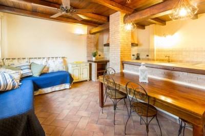 Cucina e sala pranzo appartamento Diano Marina