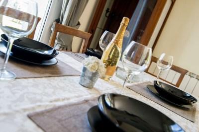 Tavolo con champagne a Sanremo
