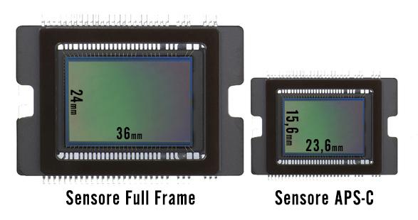 immagine della differenza di dimensione tra sensori