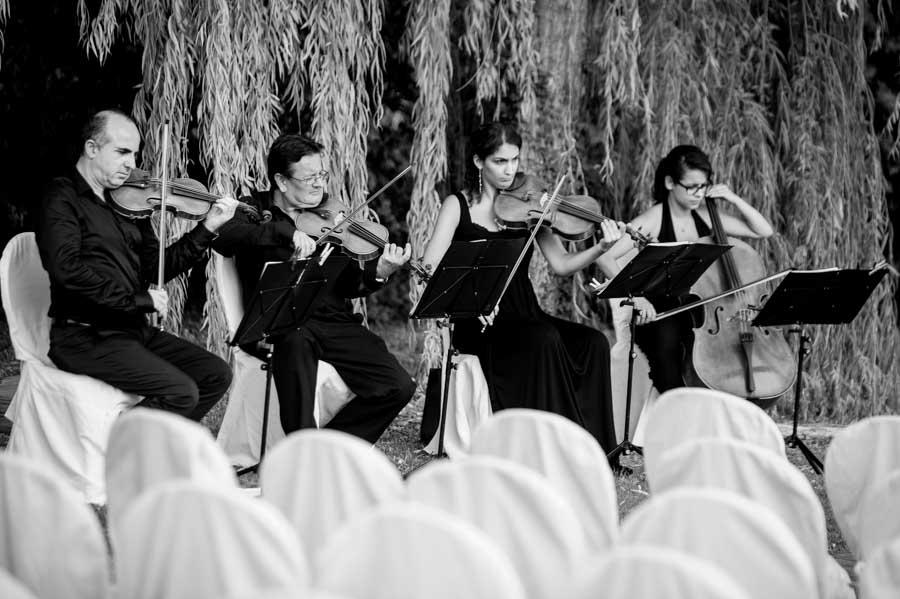 Musicisti durante matrimonio a Villa Roseto - Imperia