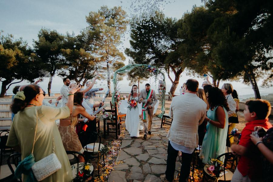 Lancio riso sposi a Sanremo