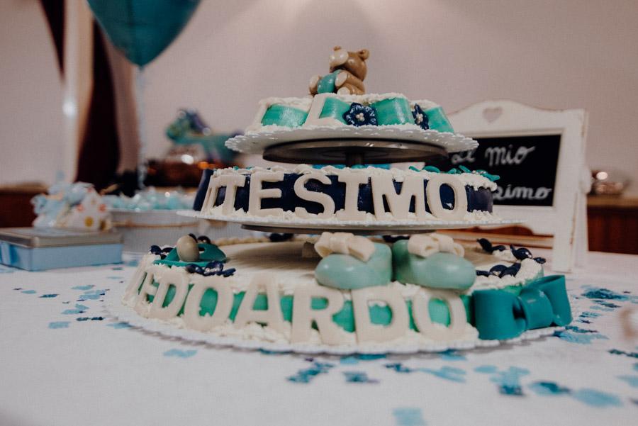 foto della torta di battesimo di Edoardo