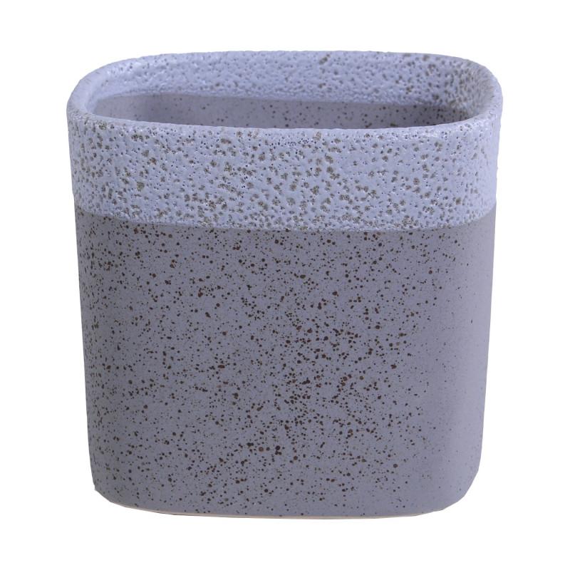 pot de fleurs carre en ceramique bicolore nacre grossiste fleuriste
