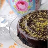 Vegan Chocolate Cake with Pistachio Nuts