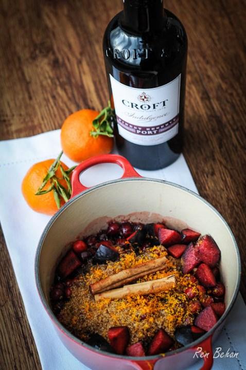 Spiced Cranberry and Plum Chutney