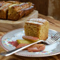 A Rhubarb and Almond Cake for the Good Food Channel