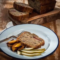 'Fruitdrop' Pear & Plum Banana Bread