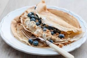 Bluberry and Vanilla CheeseCake Pancakes-