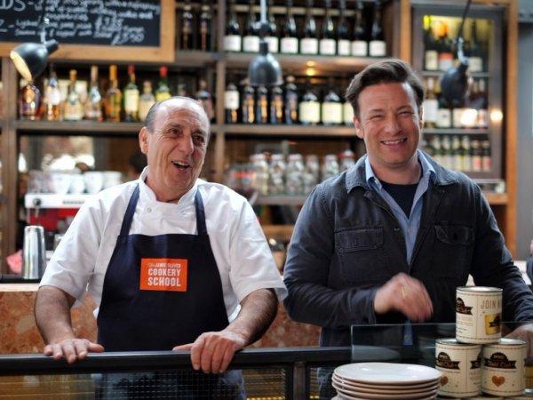 Jamie Oliver and Gennaro Contaldo