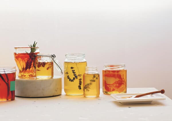 Home infused honey