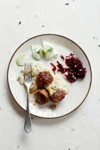 Wild Honey & Rye - Meatballs with Cucumber Salad