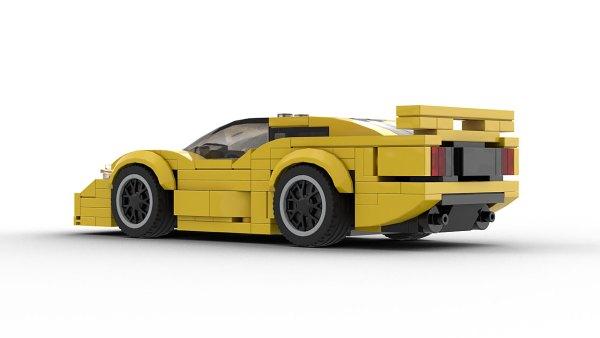 LEGO Jaguar XJ220 S TWR model rear view