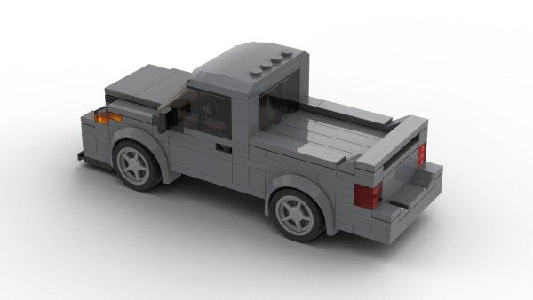 Dodge Ram SRT-10 LEGO Model Rear View