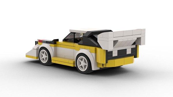 LEGO Audi Sport Quattro Race Car Rear View