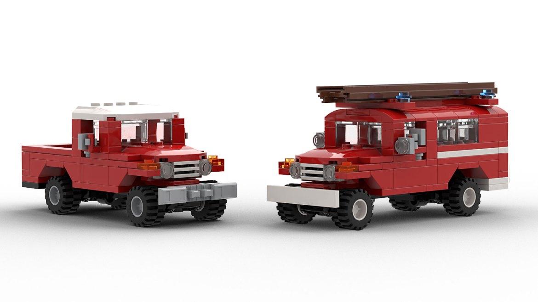 lego toyota fj40 models
