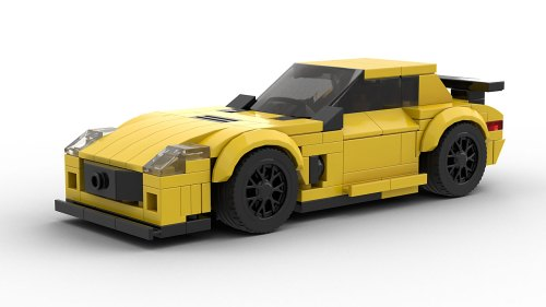 LEGO Mercedes-Benz SLS AMG Black model