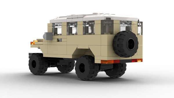 LEGO Toyota FJ45 Troopy Model Rear View