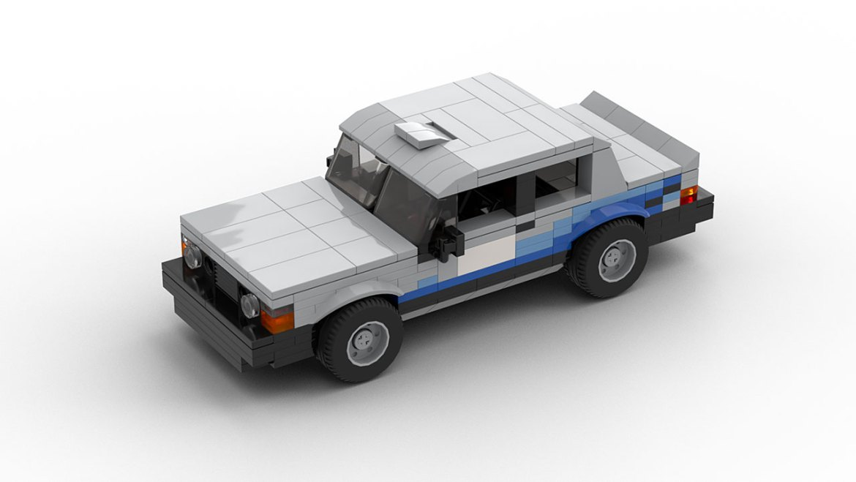 lego volvo 240 rally car model