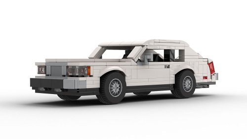 LEGO Lincoln Continental Mark VII model