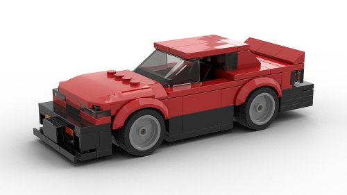 LEGO Nissan Skyline R30 MOC model rear view