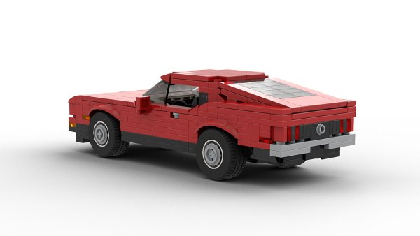 LEGO Ford Mustang Mach 1 71 model rear view