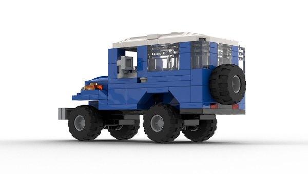 LEGO Toyota Land Cruiser FJ40 model rear view