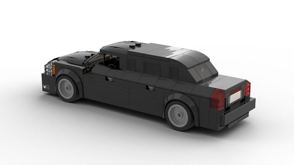 LEGO Cadillac US President Limo The Beast model rear view