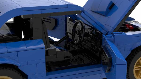 LEGO Subaru Impreza 22B model interior