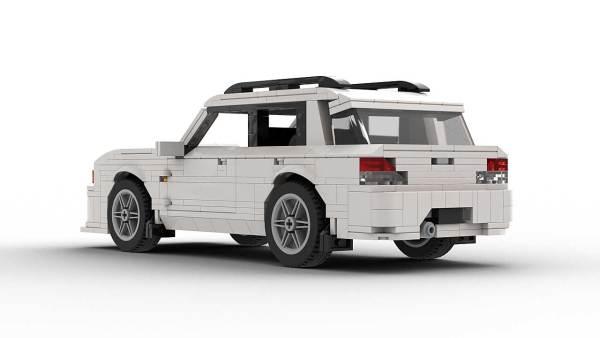 LEGO Subaru Impreza 01 Wagon Model Rear View