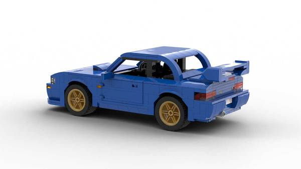LEGO Subaru Impreza 22B model rear view