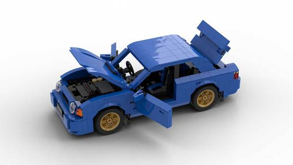 LEGO Subaru Impreza WRX 01 model with opening parts