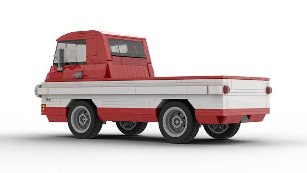 LEGO Dodge A100 Pickup model rear view