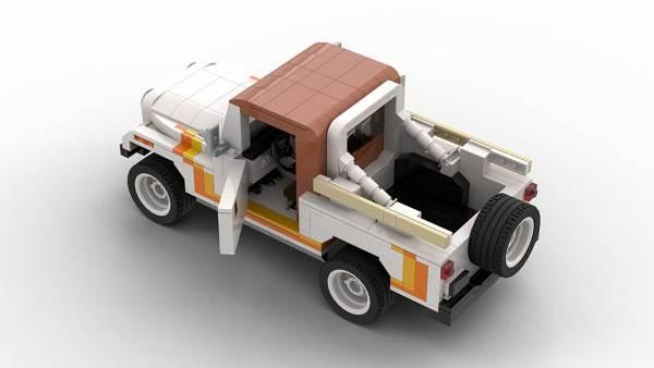 LEGO Jeep CJ8 Scrambler model with opened doors