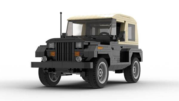 LEGO Jeep Wrangler YJ model front view