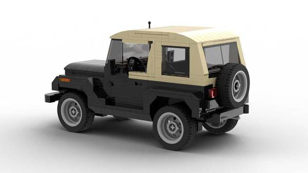 LEGO Jeep Wrangler YJ rear view