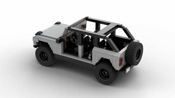 LEGO Ford Bronco 2021 4-door model rear view