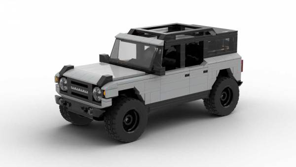 LEGO Ford Bronco 2021 4-door model with hardtop on